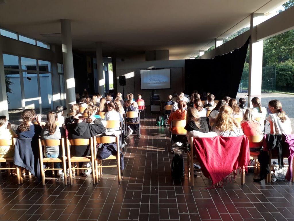Kinoerlebnis der besonderen Art an der Realschule Calvarienberg